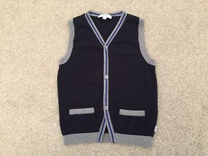 f5054443 Toddler baby Navy Grey Hugo Boss knit sweater vest size 4year old | eBay