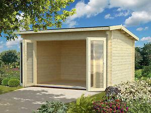 M M Holzhaus gartenhaus ines 1 blockhaus 410 x 320 cm gerätehaus schuppen 44 mm