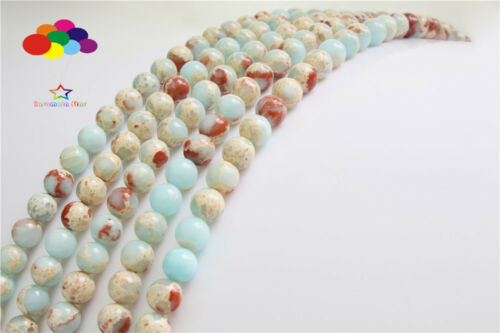 Diy 4//6//8//10//12mm Natural Stone Snakeski agate Round Beads fit bracelet necklace