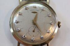 VINTAGE HAMILTON WATCH 1950'S DIAMOND DIAL 14KT MEN'S WATCH THIN
