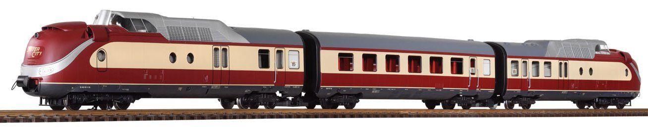 PIKO 37321 - Gasturbinen-Triebzug BR 602 3-teilig DB Epoche IV GS Spur G