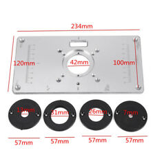 Freud 350000205 precision router table aluminum insert plate ebay 700c aluminum router table insert plate 4 rings screws for woodworking benches keyboard keysfo Gallery