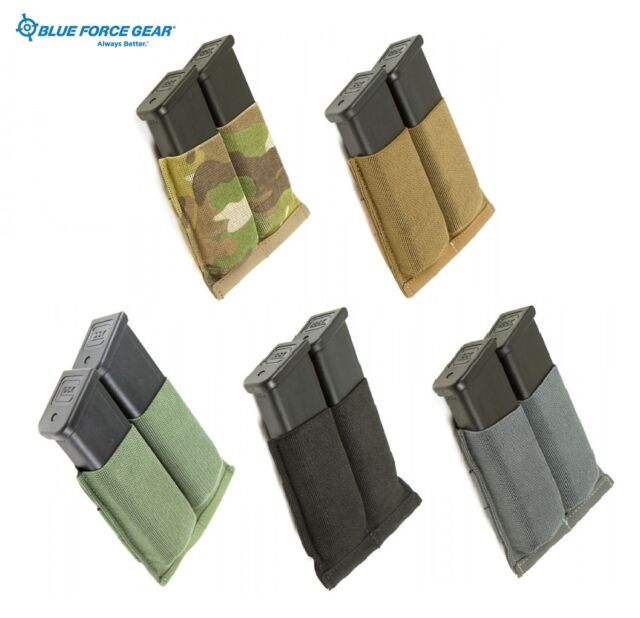 Blue Force Gear MOLLE Ten Speed Double Pistol Mag Pouch-Coyote-Black