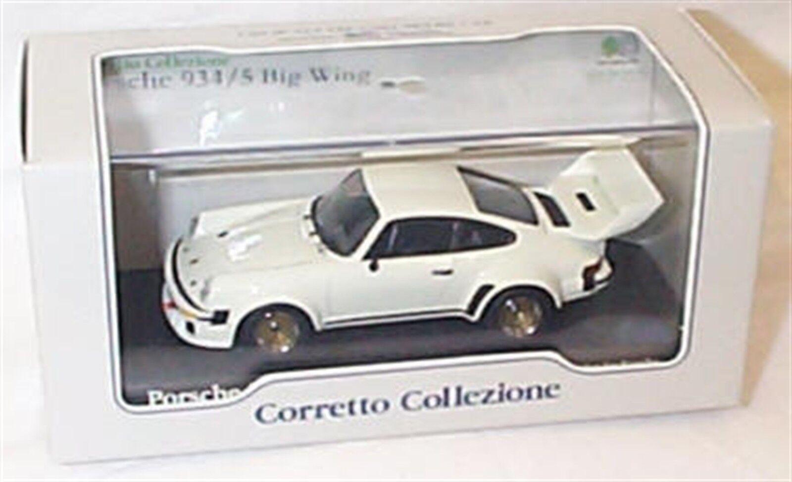 Porsche 934 - 5 ala grande en blancoo nuevo elemento en caja escala 1-43