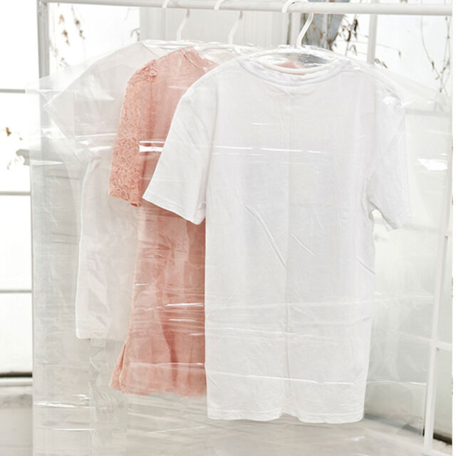5X Plastic Clear Dust-proof Cloth Cover Suit/Dress Garment Bag Storage Protector