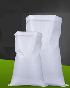 0,01€//l 50 Stk PP Gewebesäcke 60 x 105 cm 75g weiß 50kg 110Liter Getreidesack