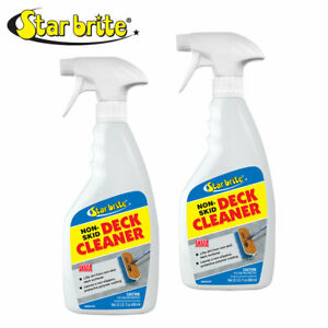 2-Pack Star Brite Non-Skid Deck Cleaner 22 oz Spray Bottle Protect Future Stains