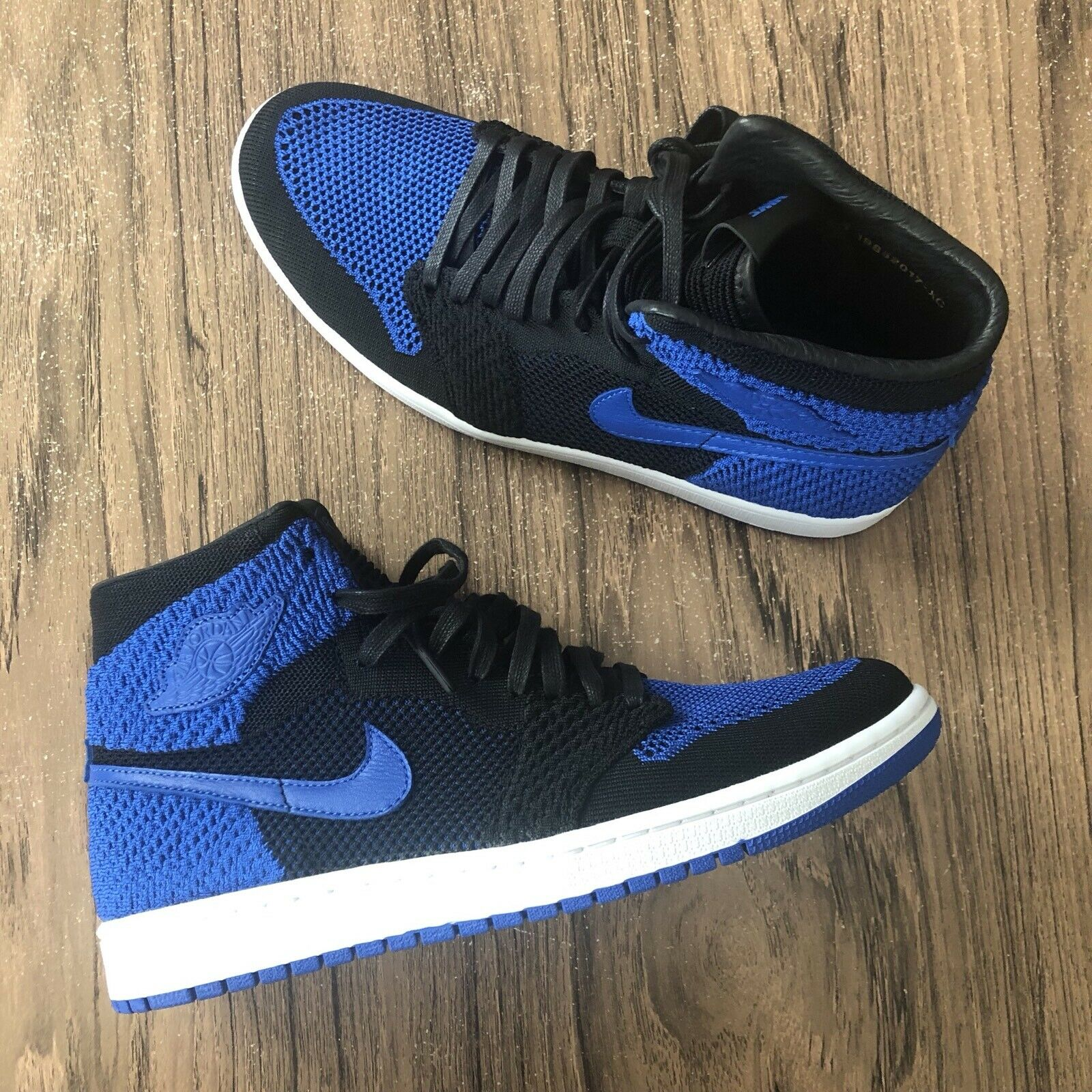A1201G Air Jordan 1 Retro Hi Flyknit Royal 919704-006 Mens Size 11 NEW