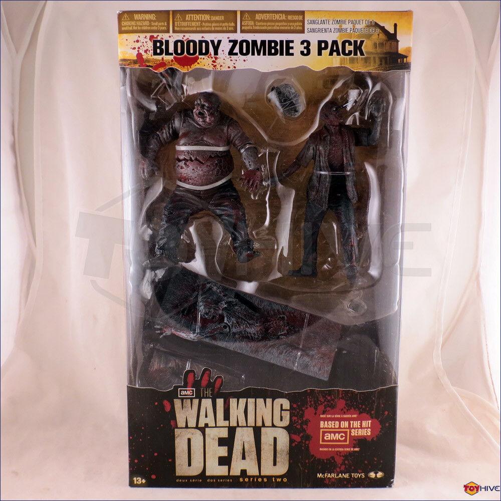 The Walre Dead Bloody Zombie 3 Pack McFarlane giocattoli Well, RV e  bicicletta Girl