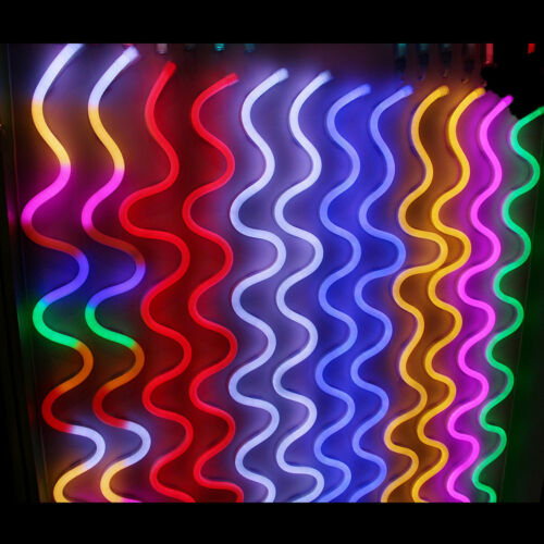 220V Flexible LED Neon Rope Light RGB Indoor Outdoor Party Valentine Decoration