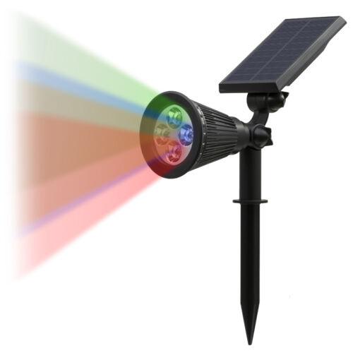 Solar Power Outdoor Wall Path Lawn Garden Security LED SpotLight Waterproof Lamp