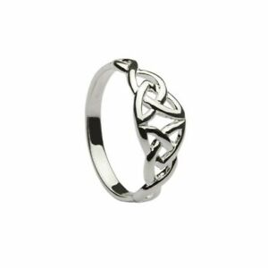 Trinity Knot Ring Sterling Silver Irish Made