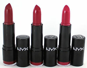 NYX-Lipstick-Round-x-3-pack-SNOW-WHITE-CHAOS-CHIC-RED-reds-new-makeup