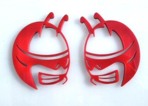 Pair 2 Emblems Red Updated Head Emblems fit Dodge Challenger Charger Scat Pack
