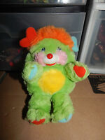 "Vintage 1985 Popples Green Putter Popple 8"" Plush   RARE"