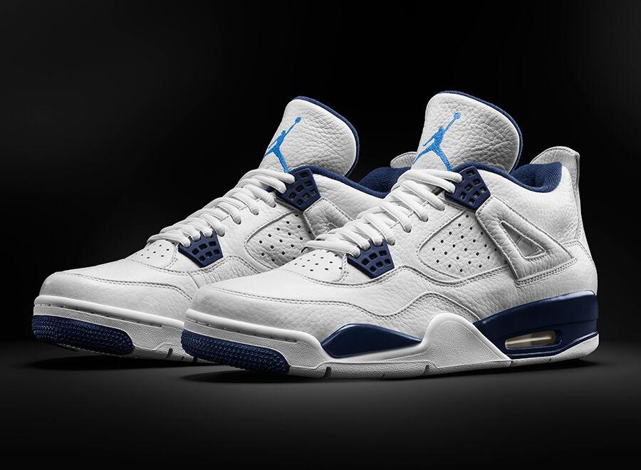 Nike air jordan 4 Columbia nous UK6 7 8 9 10 11 12 Legend Bleu 314254-107 og 2015-