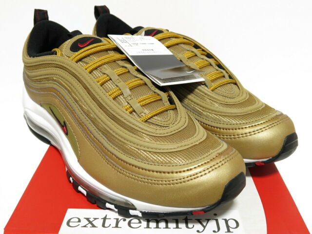 Nike Air Max 97 OG QS Metallic Gold Size 10 Mens 884421 700