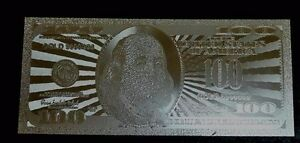 Lot-of-10pcs-US-Silver-BANKNOTE-100-Franklin-w-protect-sleeve-for-each-American
