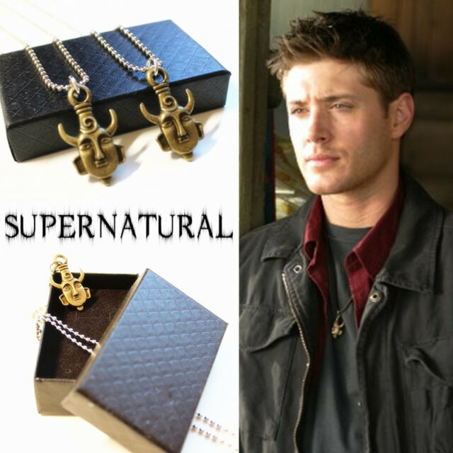 Supernatural Jensen Ackles Dean Winchester Protection Amulet Necklace