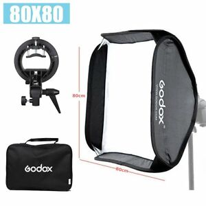"Godox S-Type Speedlite Flash Bracket Holder Bowens Mount w/ 80x80cm 32"" Softbox"