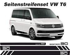 VW T6 Seitenstreifen Edition 30 Aufkleber Dekor Set in Wunschfarbe