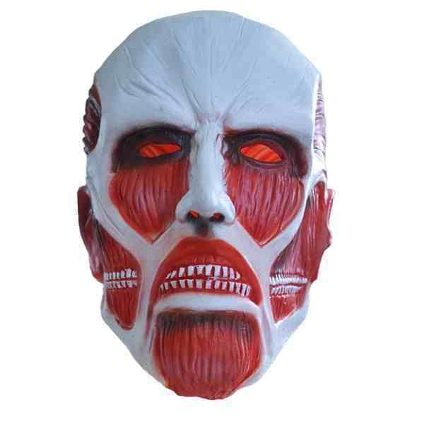 Attack on Titan Mask Shingeki no Kyojin Cosplay Latex Halloween Anime Colossal