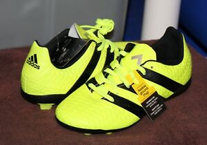Microprocesador Apuesta Supervisar  ADIDAS ACE 16.4 FxG J Youth Soccer Cleats SZ 1.5 Yellow/Black | eBay