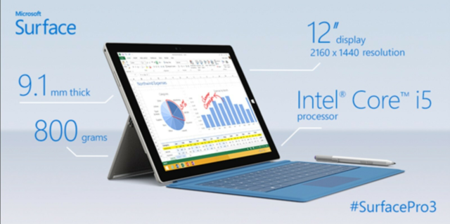 Microsoft Surface PRO 3 med PEN , 4 GB ram, 128 GB…