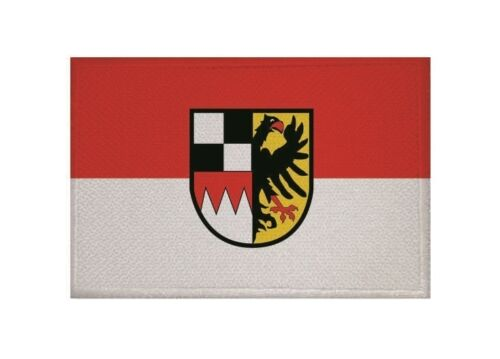 Ricamate mezzi franchi bandiera bandiera aufbügler Patch 9 x 6 cm