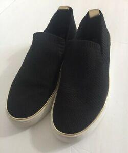 Micheal-Kors-Skyler-Slip-On-Sneaker-Black-Size-9M