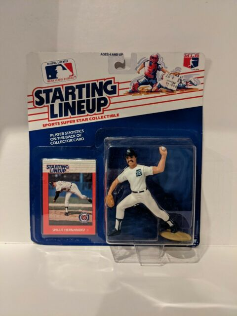 1988 WILLIE HERNANDEZ Detroit Tigers Starting Lineup SLU MLB Baseball Figure