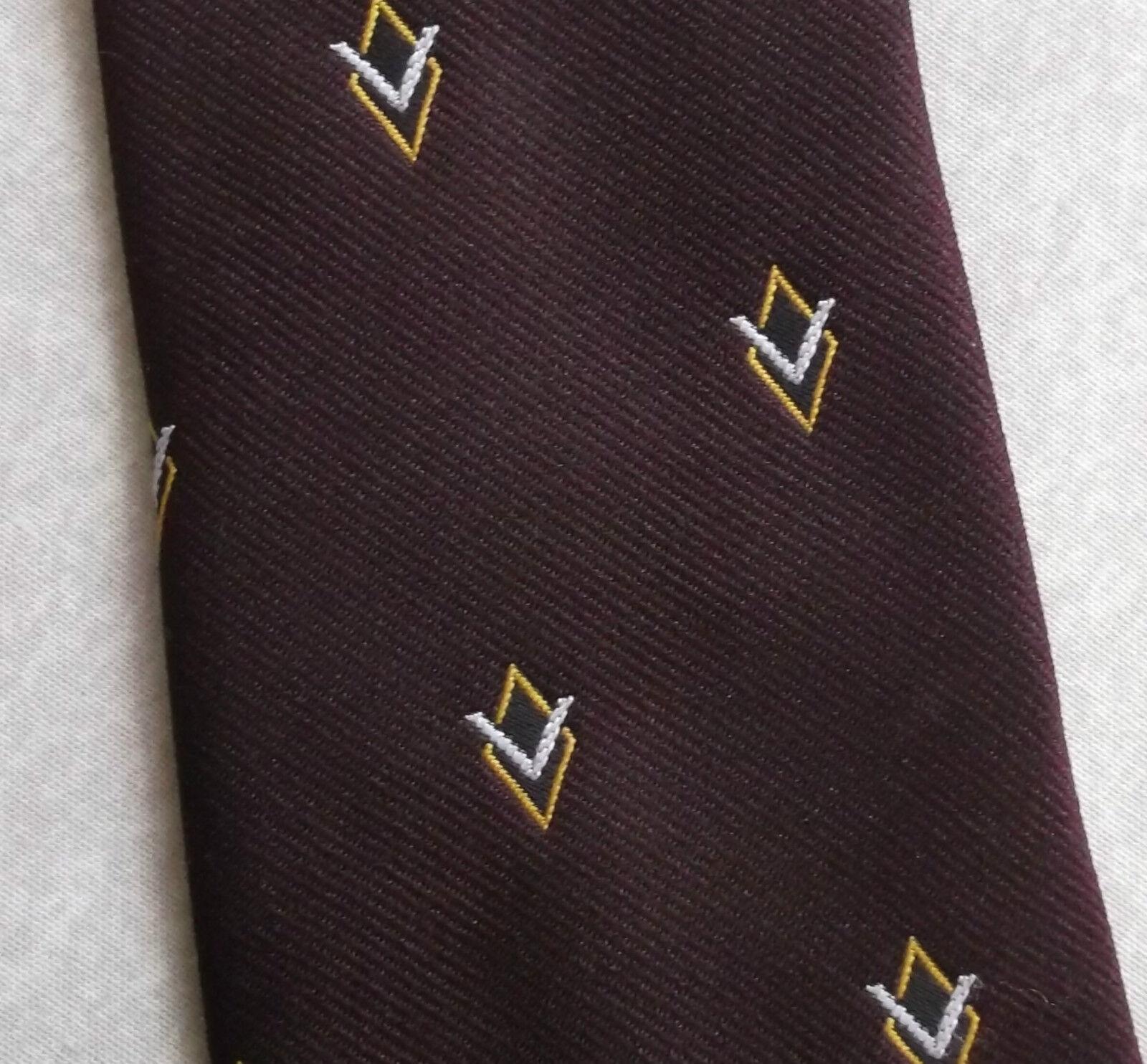 Vintage Tie MENS Necktie Company Logo Crested Club Association Society