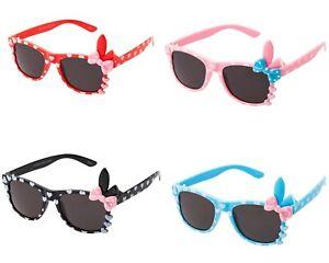 New 1 Red Kids Girls Childrens Sunglasses Cute Bow Style Glasses Shades UV400 UK