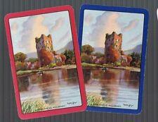 Playing Swap Cards 2 VINT GENUINE  ROSS CASTLE KILLARNEY  ART BY WALTER TILL 411