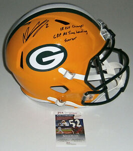 PACKERS-Mason-Crosby-signed-F-S-Speed-helmet-w-SB-XLV-All-Time-Scorer-JSA-AUTO
