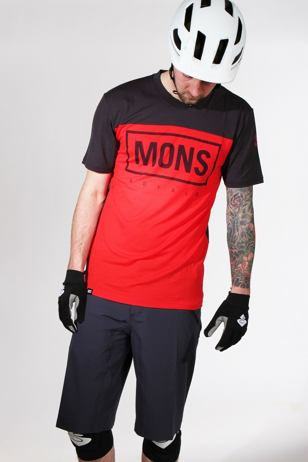 Mons Royale Redwood VT Riding Tee Bright Red 15% OFF