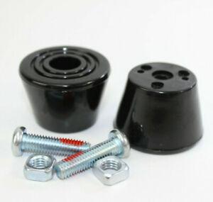 2-x-Bremsstopper-vorne-Rollschuhe-Frontstopper-Rollerblades-schwarz-Befestigung