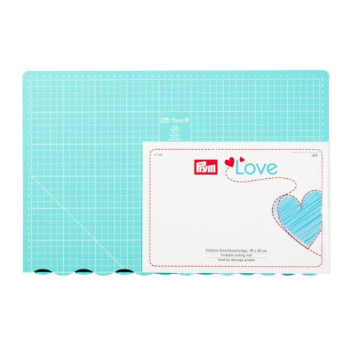Folding Cutting mat PRYM LOVE 45X60CM patchwork crafting quilting sewing 611465