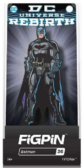 DC UNIVERSE REBIRTH - BATMAN - FIGPIN ENAMEL COLLECTOR FIGURE PIN w/ CASE TY300
