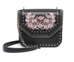 0e0198c29563 Image is loading Stella-Mccartney-Falabella-Black-Floral-Embellished-Box -Studded-