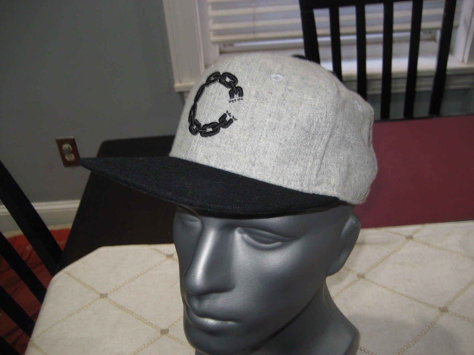 MENS Crooks & Castles SMU Chain CASTLE GRAY/Black SNAPBACK Hat GRAY/Black CASTLE NWT a9a135