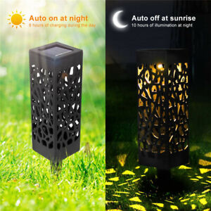 Details About Solar Garden Torch Lights Outdoor Lawn Landscape Light Led Waterproof Bw