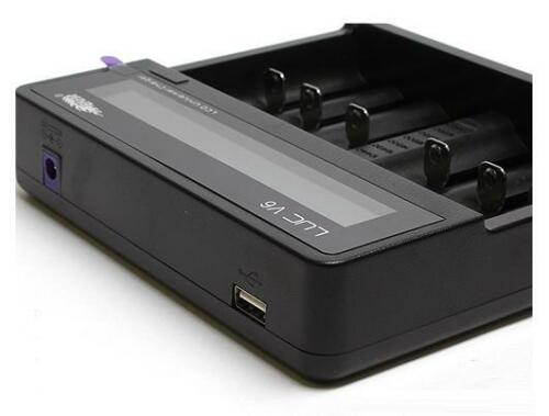 26650 // 18650 // 16340 New Efest LUC V6 HD LCD battery charger USB output