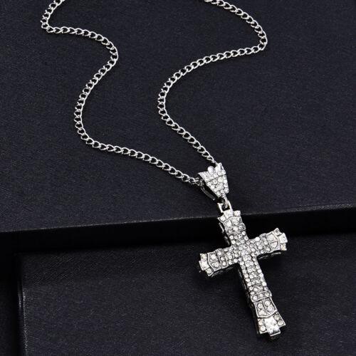 Ladies Men/'s  Sterling Silver Cross Chain Crucifix Jesus Necklace Pendant