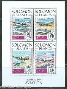 SOLOMON-ISLANDS-2014-AUSTRALIAN-AVIATION-SHEET-MINT-NH