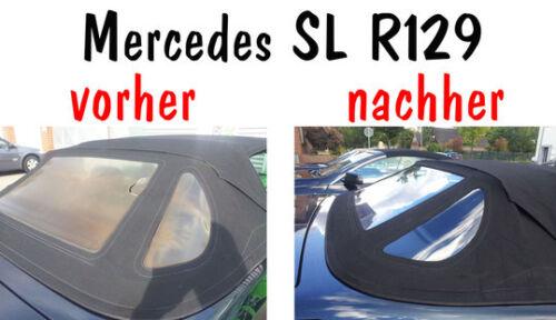 Mercedes Benz SL R129 Cabrio Heckscheibe Scheibe Original stärke Prüfzeicheichen