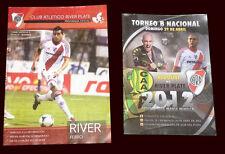 RIVER PLATE - 2 Official Football Programs Nacional B Championship 2012