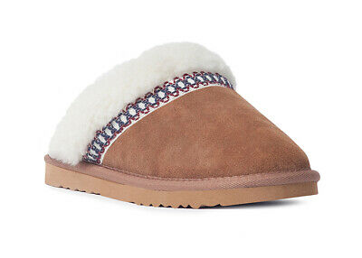 Brown Details about  /MUK LUKS ®Women/'s Dawn Suede Scuff Slippers