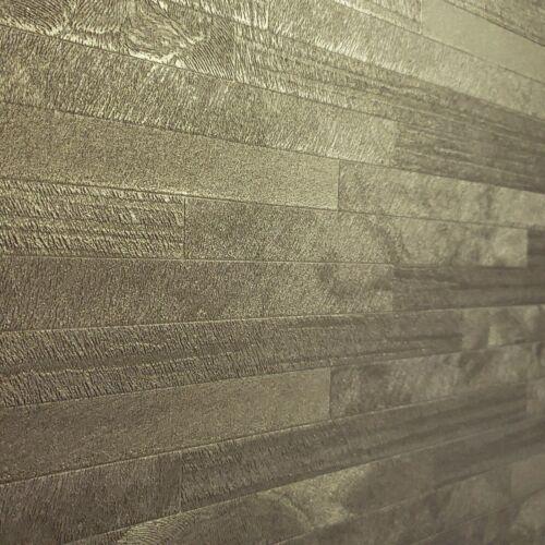 Wallpaper Brass Gold Metallic Tile Animal Skin Faux Fur Textured Rectangular 3D