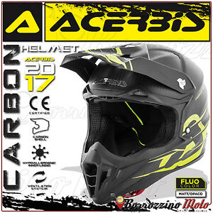 ACERBIS-IMPACT-CARBON-3-0-CASCO-MOTO-CARBONIO-MOTOCROSS-ENDURO-OFFROAD-TAGLIA-S
